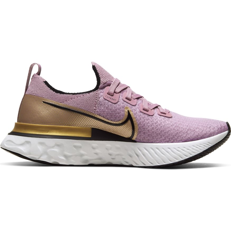 Womens Nike React Infinity Run FK Plum Fog/Black-Metallic Gold(500)