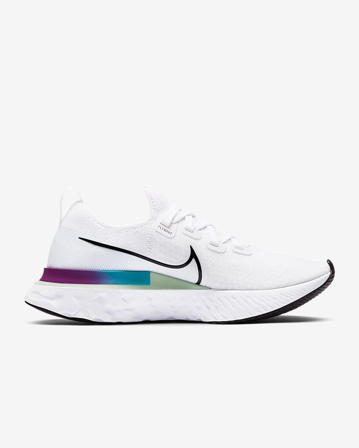 Womens Nike React Infinity Run FK White/Black-Vapor Green (102)