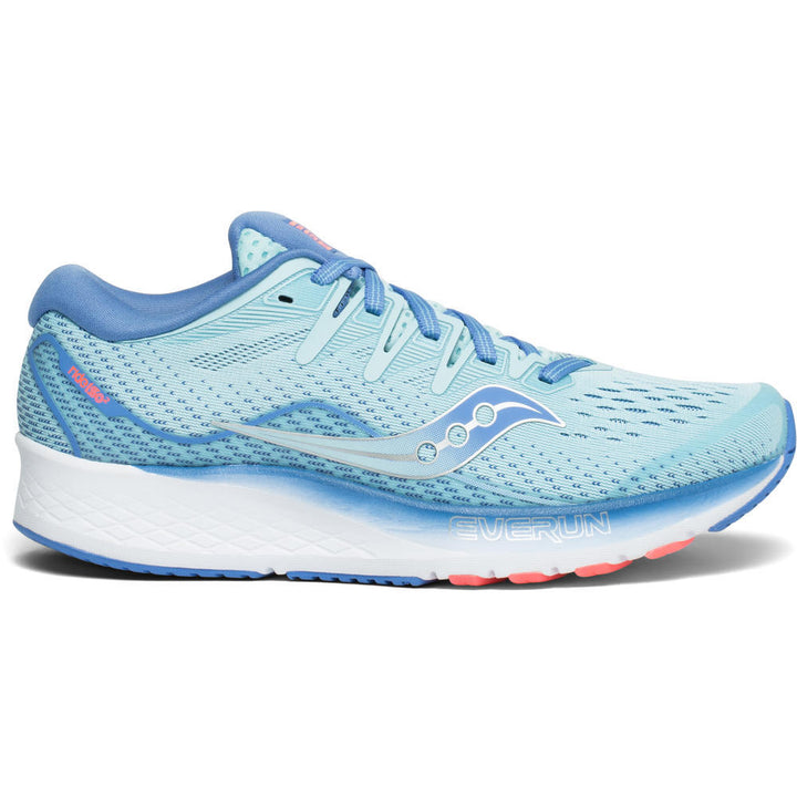 Womens Saucony Ride ISO 2 Blue/Coral (1)