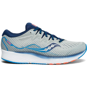 Mens Saucony Ride ISO 2 Grey/Blue (1)