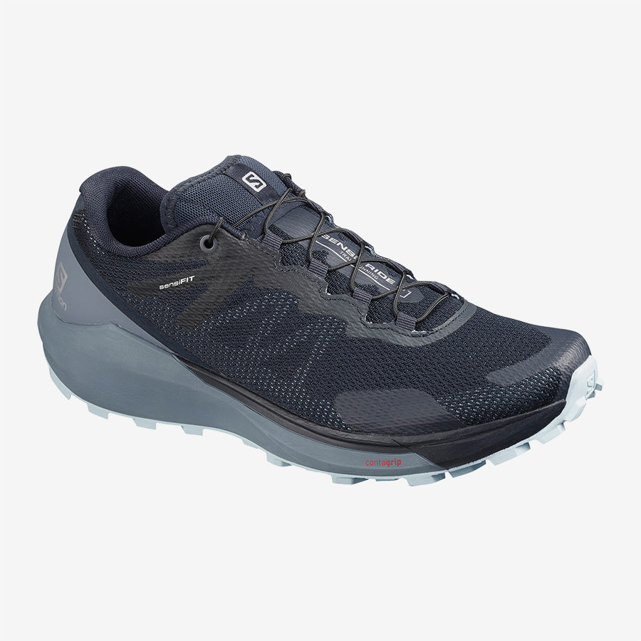 Womens Salomon Sense Ride 3  Navy Blaze/Flint Blue