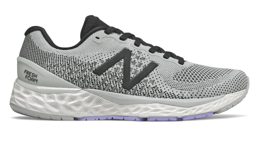 New Balance W880v10 (D) Light Aluminum with Black