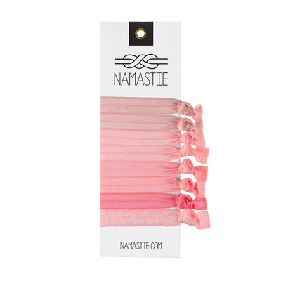 Namastie Pink Lady Hair Ties