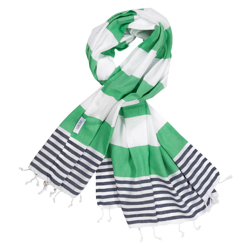 Striped Goodness Apple Green & Navy