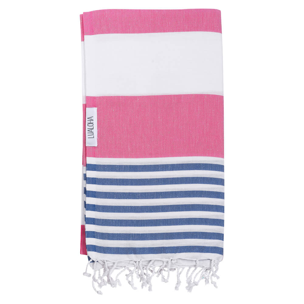 Striped Goodness Rose Chaud et Denim