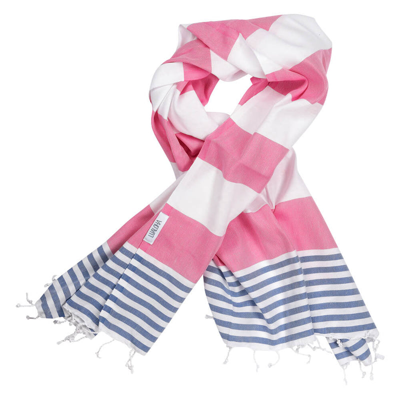 Striped Goodness Hot Pink & Denim