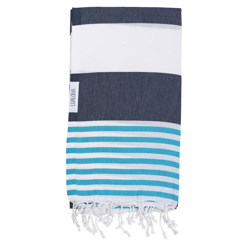 Striped Goodness Navy & Aqua