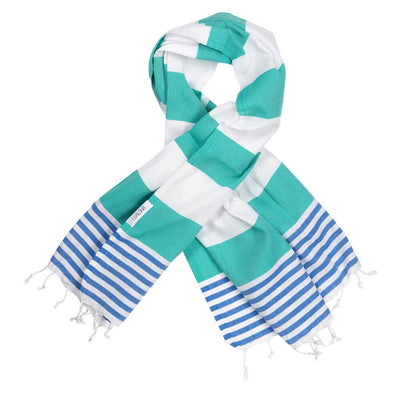 Striped Goodness Sea Green & Azure