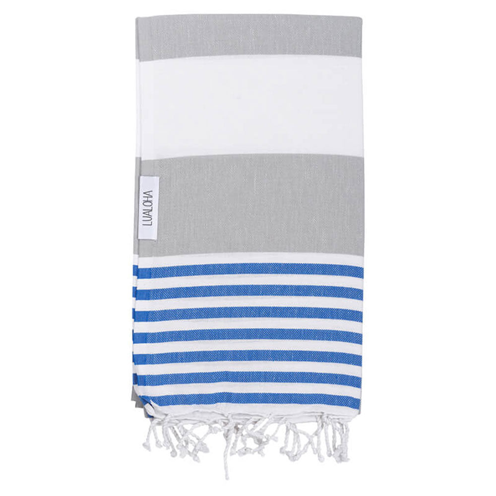 Striped Goodness Light Gray & Azure