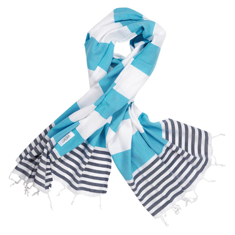 Striped Goodness Aqua & Navy