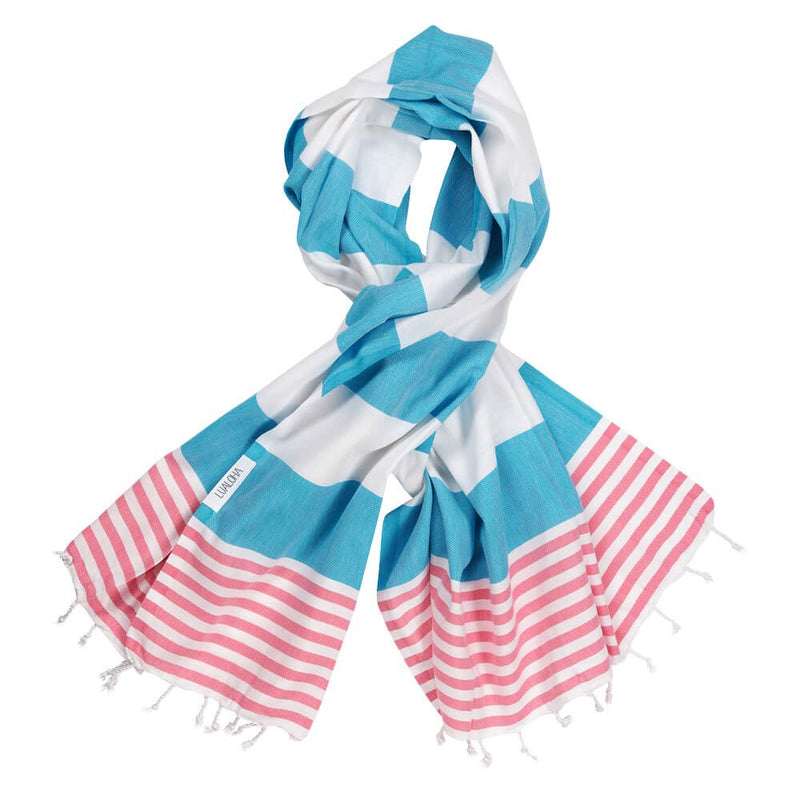 Striped Goodness Aqua & Pink
