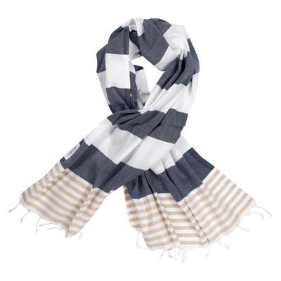 Striped Goodness Navy & Sand