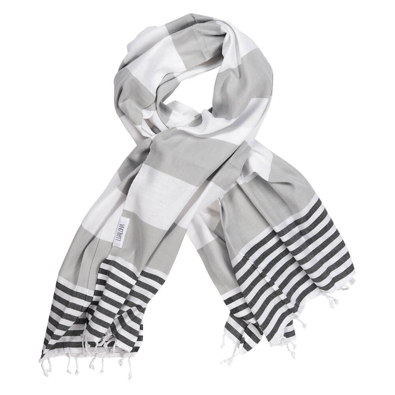 Striped Goodness Light Grey & Black