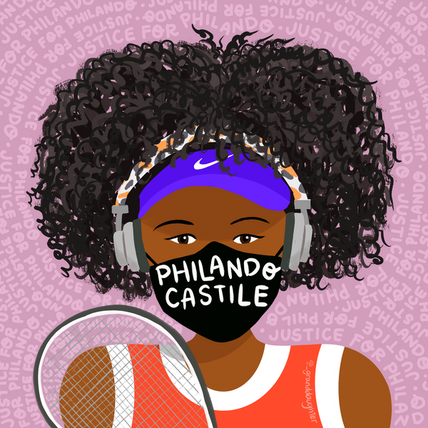 Naomi Osaka ~ US Open Face Masks for Black Lives ~ Individual Print