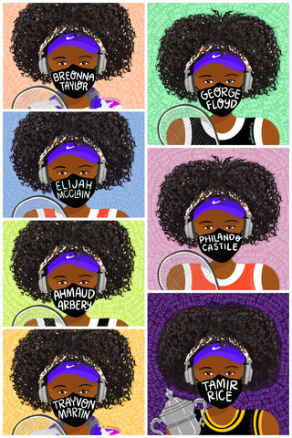 Complete Set ~ Naomi Osaka ~ US Open Masks for Black Lives
