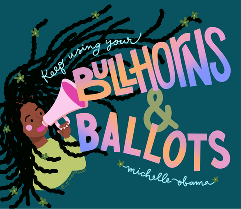 Bullhorns and Ballots Postcards
