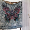 Not Pretty Butterfly Damask Tapestry Throw