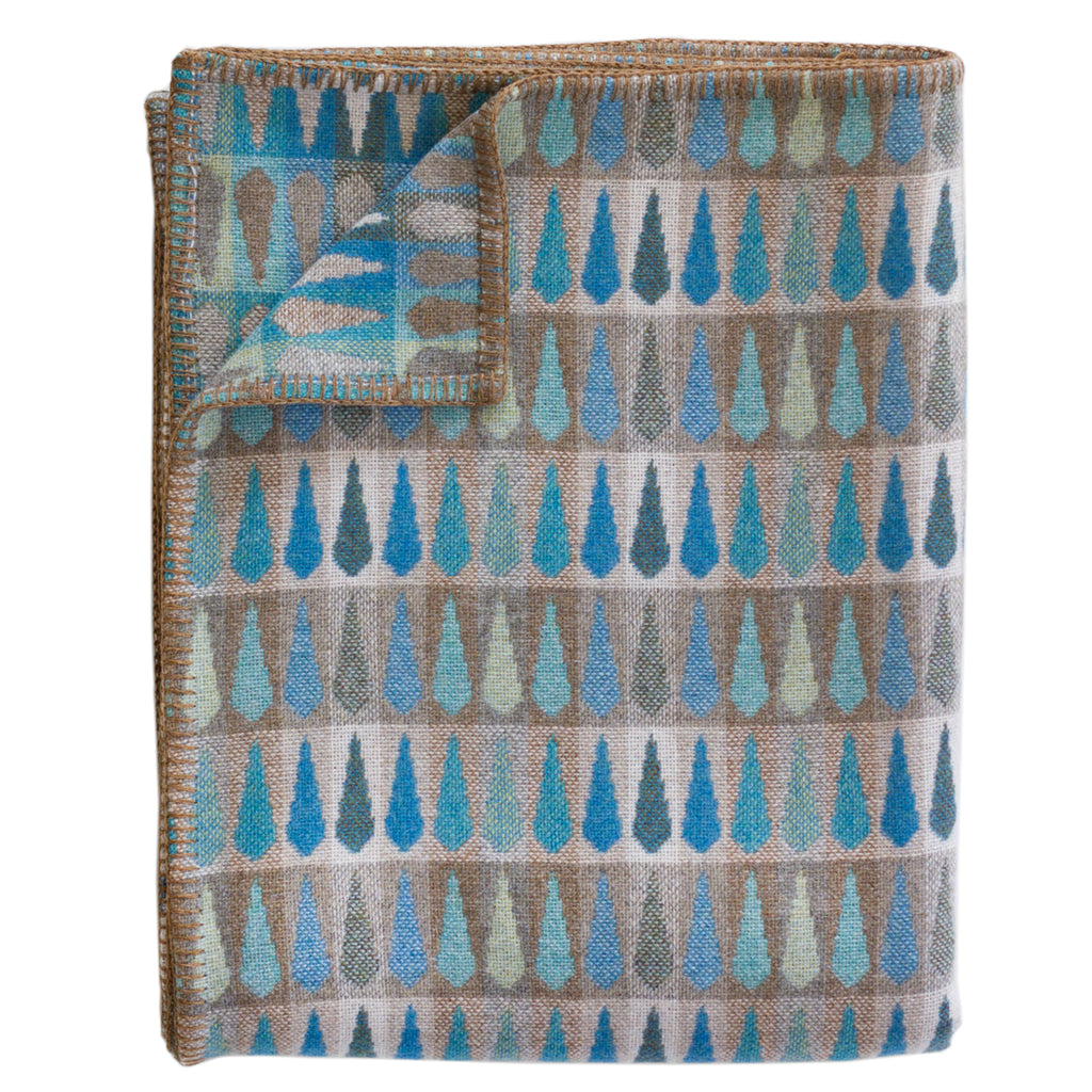 Chalk Fern Turquoise Throw - RUME