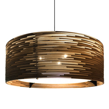Graypants Scraplight Drum Pendant Natural