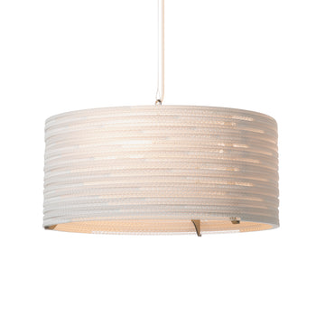 Graypants Scraplight Drum Pendant White - RUME