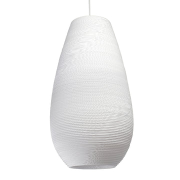 Graypants Scraplight Drop Pendant White