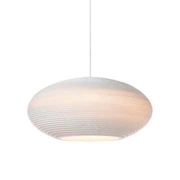 Graypants Scraplight Disc Pendant White - RUME