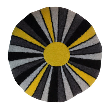 Sally Nencini Kaleidoscope Grey Yellow
