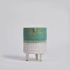 Atelier Stella Small Tripod Pot Turquoise and White - RUME