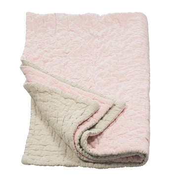 Niki Jones Velvet Linen Throw Nude