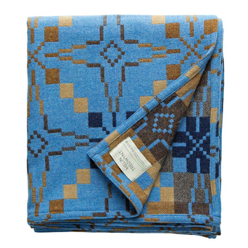 Melin Tregwynt Vintage Star Throw Blue