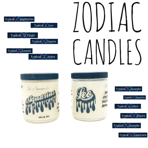 Zodiac All Natural Soy Wax Candle 9oz.