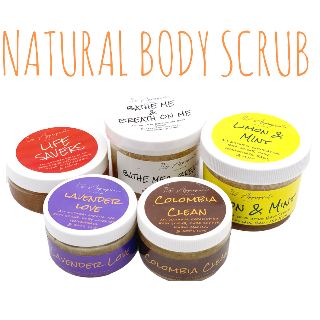 NEW FORMULATED NATURAL Body Scrubs