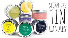 Load image into Gallery viewer, All Natural Signature Soy Tin Candles