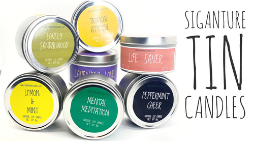 All Natural Signature Soy Tin Candles