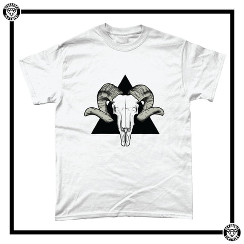 Baphomet Men's T-Shirt-T-Shirt-Reverence Clothing-White/Black-Small-Reverence Clothing