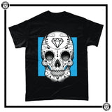 Day of the Dead Men's T-Shirt-T-Shirt-Reverence Clothing-Black/Blue-Small-Reverence Clothing