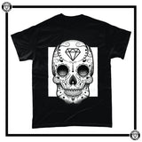 Day of the Dead Men's T-Shirt-T-Shirt-Reverence Clothing-Black/White-Small-Reverence Clothing