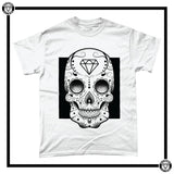 Day of the Dead Men's T-Shirt-T-Shirt-Reverence Clothing-White/Black-Small-Reverence Clothing