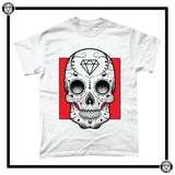 Day of the Dead Men's T-Shirt-T-Shirt-Reverence Clothing-White/Red-Small-Reverence Clothing