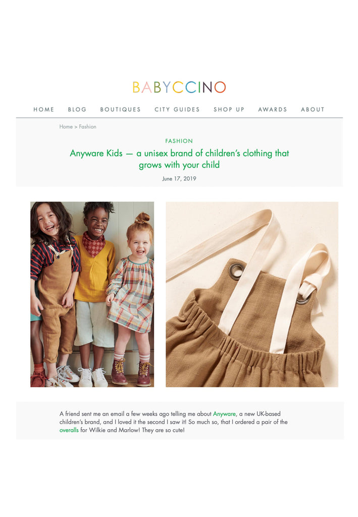 ethical toddler clothing brand loved in Byron Bay by Courtney Adamo