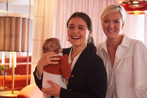 Jessie Ware and George Reddings with Jessie newborn son