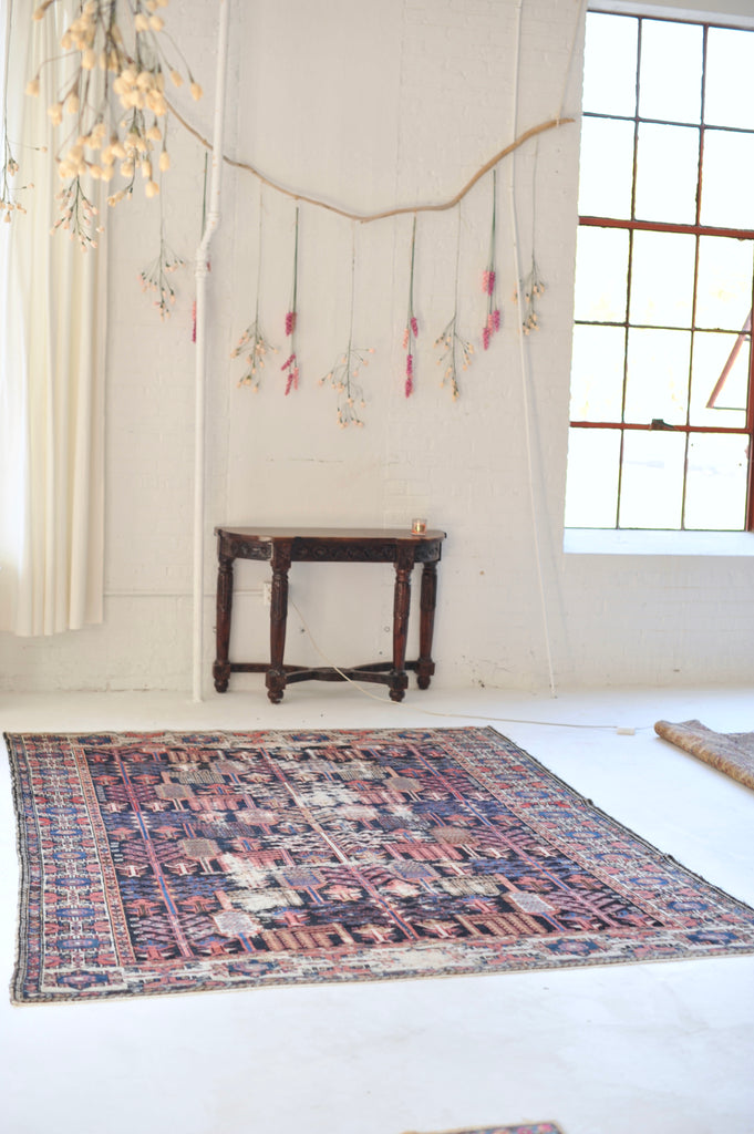 "SOLD |  Antique Rug | BEAUTIFUL All-Over Tree Design ""Forest of Life"" 