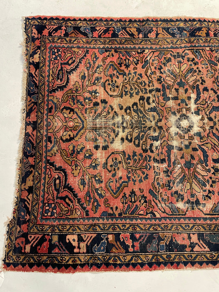 RESERVED** Charming Antique Rug with Artistic & Arabesque Vine and Floral Design | ~ 5x6