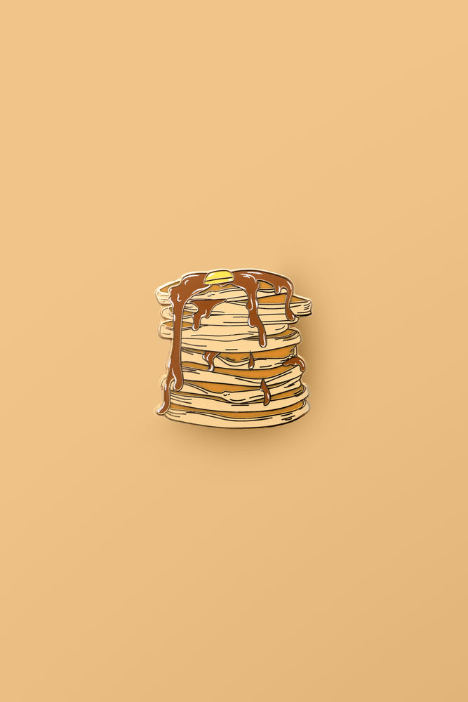 Stacking' Pancakes Enamel Pin