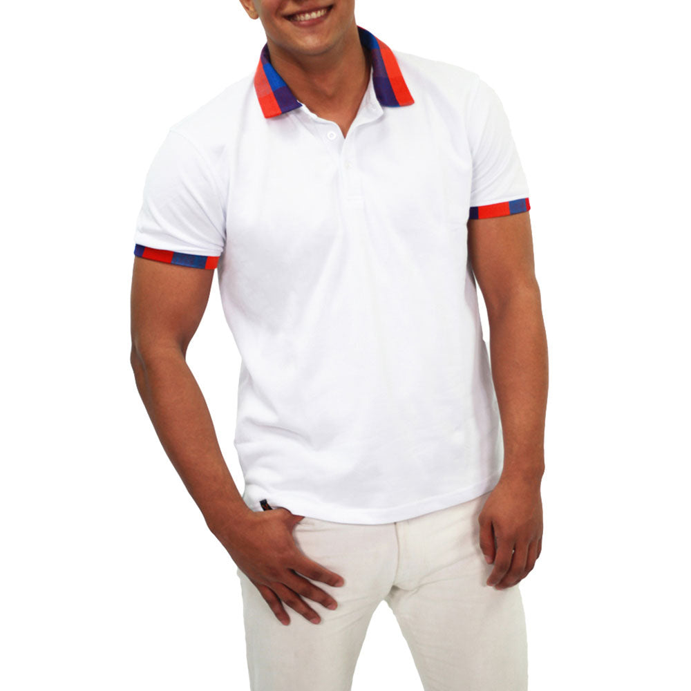 Xibany Original Sports Polo Classic Fit, Mens, White