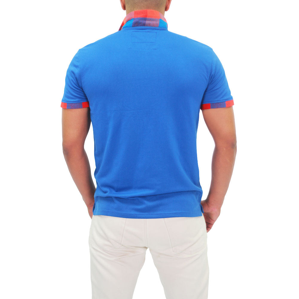 Xibany Original Sports Polo Classic Fit, Mens, Blue