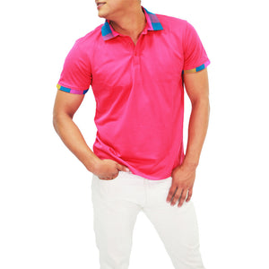 Xibany Original Sports Polo Classic Fit, Mens, Pink
