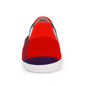 Xibany Original Canvas Slip-On Sneaker, Baby: Red|Blue