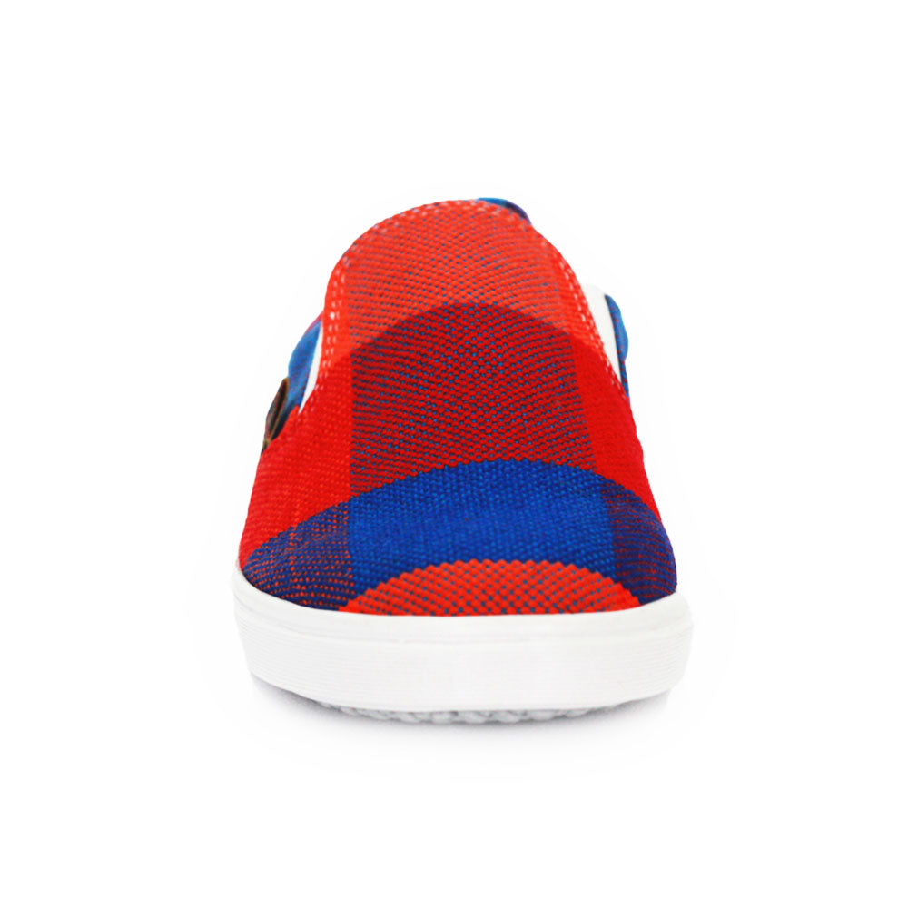Xibany Original Canvas Slip-On Sneaker, Preteen, Red|Blue