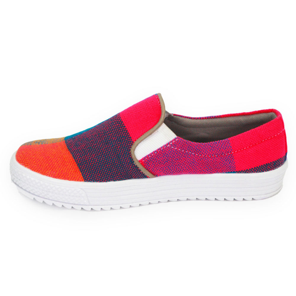 Xibany Original Canvas Slip-on Sneaker, Preteen, Orange|Blue|Pink|Green